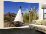 Teepee on Kinney Road Wall Mural – Large by Richard Cummins