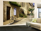 Racing Bike Parked in Street of Village of Daglan Wall Mural – Large by Barbara Van Zanten