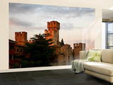 Rocca Scaligera Castle at Lago Di Garda Wall Mural – Large by Ruth Eastham & Max Paoli