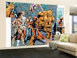 Alpha Flight No.7 Group: Sasquatch, Alpha Flight, Nemesis and Yukon Jack Crouching Wall Mural – Large by Dave Ross