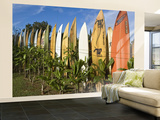 Colourful Surfboard Fence Wall Mural – Large by John Elk III