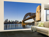 Sydney Harbour Bridge from Milson's Point Wall Mural – Large by Greg Elms