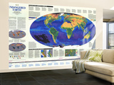 1988 Endangered Earth Map Wall Mural – Large