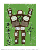 Evolution, Revolution, Resolution 1989 (Rousseau) Posters av Nam June Paik