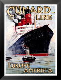 Cunard Line, Aquitania Poster by Odin Rosenvinge
