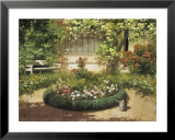 Sunlit Flower Garden Prints by Laszlo Neogrady