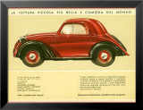 La Vettura Topolino Fiat Posters