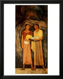 Women with Flowers and Vegetables Prints by Diego Rivera