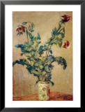 Violette Mohnblüten Poster von Claude Monet