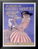 Galeries Lafayatte Poster von Jean-Gabriel Domergue