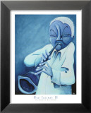 Blue Jazzman IV Posters by Patrick Daughton