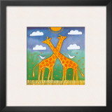Giraffes Posters by Linda Edwards