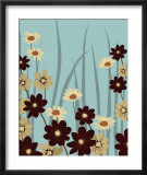 Blue Daisy Meadow Planscher av Kate Knight