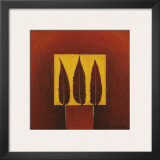 3 Feathers in a Square Posters by Pascale Nesson
