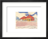 House on the Beach, c.1910 Affischer av Max Pechstein