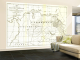 1896 Valley of the Orinoco River Map Wall Mural – Large