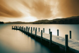 Wooden Landing Jetty-Color Kunstdruck