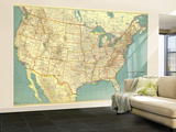 1933 United States of America Map Wall Mural – Large