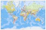 Mapa del mundo, 2011, en inglés Pósters