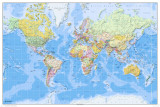 World Map-2011 English Prints