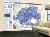 1990 World Ocean Floors, Arctic Ocean Map Wall Mural – Large by  National Geographic Maps
