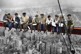 Pranzo in cima a un grattacielo Foto