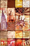 New York Patchwork Poster