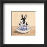 Teacup Bunny III Print by Kari Phillips