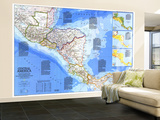 1986 Central America Map Wall Mural – Large