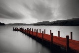Wooden Landing Jetty-Red Kunstdruck