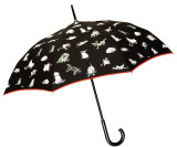 Booth Umbrella, Red Trim Umbrella