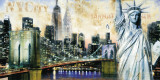New York City Print by John Clarke