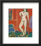 Pink Nude, Red Interior, c.1947 Prints by Henri Matisse