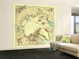1907 North Pole Regions Map Wall Mural – Large