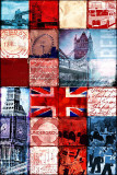 London Patchwork Poster