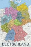 Carte politique de l'Allemagne, en allemand Posters