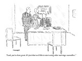 """Look, you've been great. It's just that we'd like to start seeing other m…"" - New Yorker Cartoon Premium Giclee Print by Robert Mankoff"