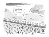 (&quot;I&#39;m greener, yes. But am I happier?&quot;) - New Yorker Cartoon Premium Giclee Print by Mick Stevens