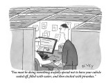 """""""You must be doing something awfully special not to have your cubicle seal…"""" - New Yorker Cartoon Premium Giclee Print by Peter C. Vey"""
