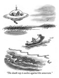 """The death ray is useless against his sunscreen."" - New Yorker Cartoon Premium Giclee Print by Frank Cotham"