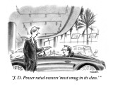 """""""J. D. Power rated owners 'most smug in its class.' """" - New Yorker Cartoon Premium Giclee Print by Pat Byrnes"""