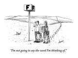"""I'm not going to say the word I'm thinking of."" - New Yorker Cartoon Premium Giclee Print by Tom Cheney"