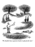 """We shouldn't have expected a banker to play by the rules."" - New Yorker Cartoon Premium Giclee Print by Frank Cotham"