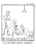 I'll put down happily married. - New Yorker Cartoon Premium Giclee Print by Glen Baxter