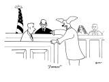 """J'amuse!"" - New Yorker Cartoon Premium Giclee Print by Michael Shaw"