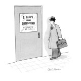 Office door: 2 Guys from Harvard-Attorneys-at-Law - New Yorker Cartoon Premium Giclee Print by Leo Cullum