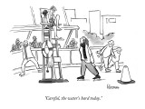 """Careful, the water's hard today."" - New Yorker Cartoon Premium Giclee Print by John Klossner"