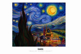 Muslim Starry Night Masterprint  av English Ron