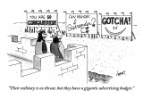 """""""Their military is no threat, but they have a gigantic advertising budget."""" - New Yorker Cartoon Premium Giclee Print by Tom Cheney"""