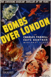 Bombs over London Impresso de alta qualidade
